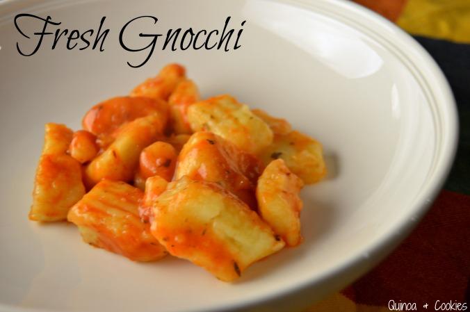 Fresh gluten free gnocchi