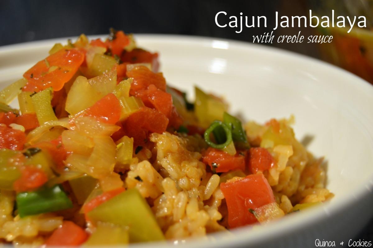 Cajun Jambalaya {GF} with Creole Sauce {GF & Vegan}